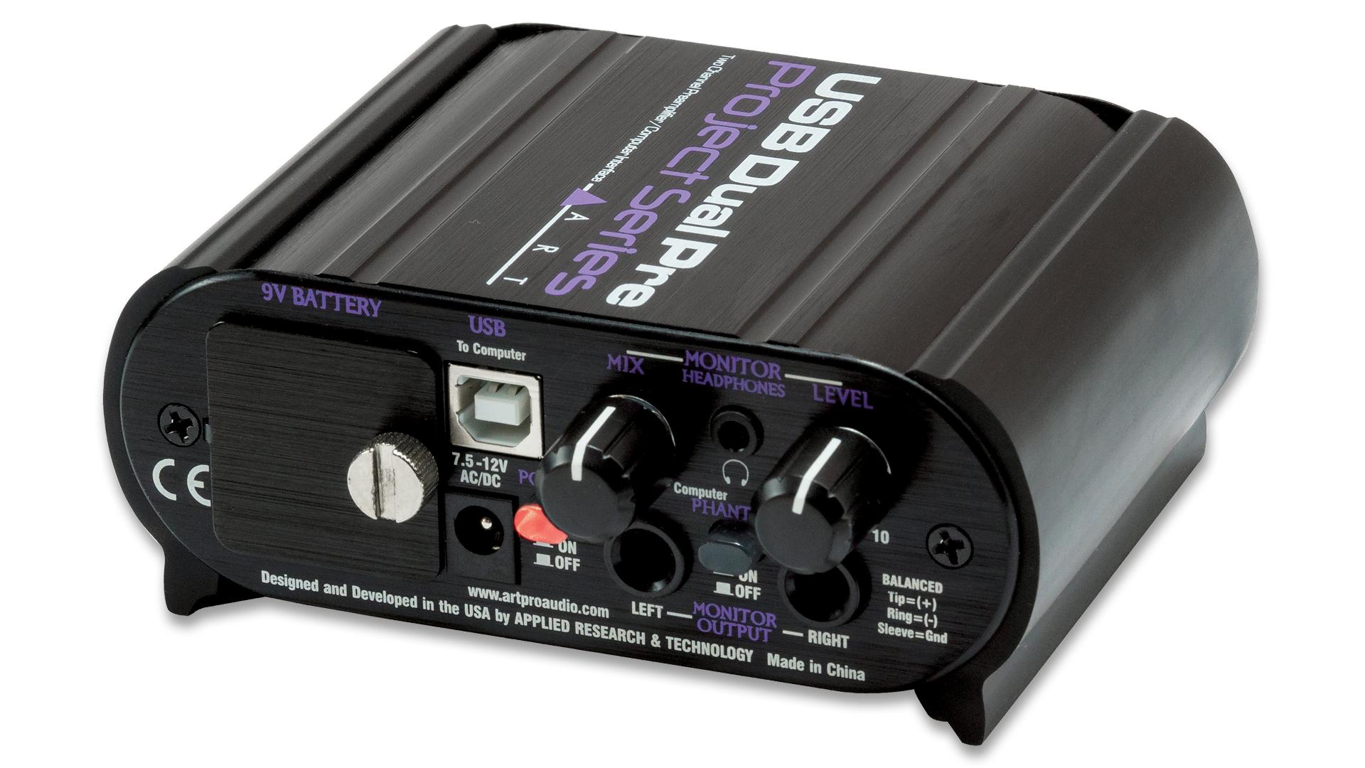 USB Dual Pre Project Series – Two Ch USB Pre – ART Pro Audio