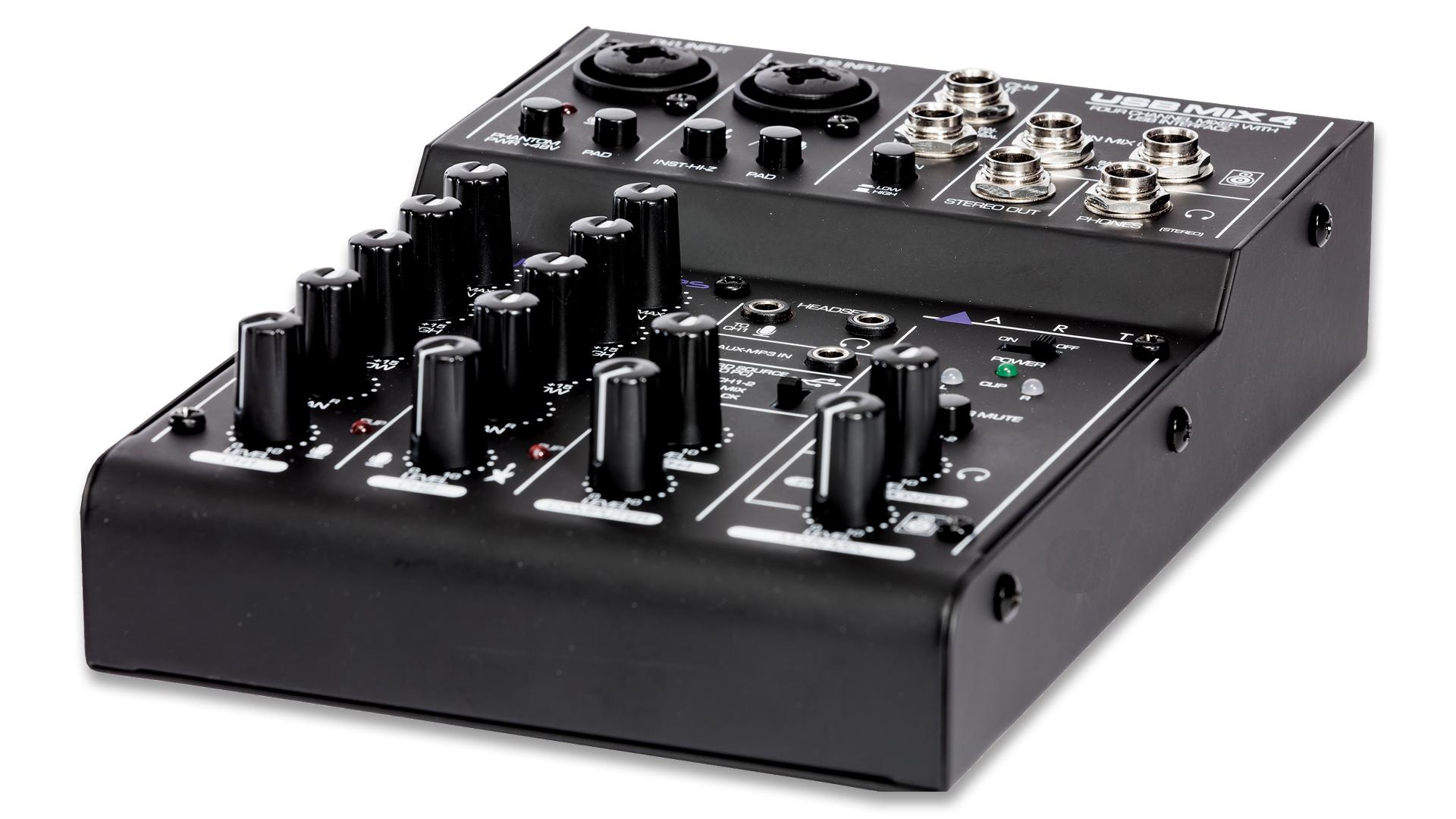 usbmix4 four channel mixer usb audio interface art pro audio. Black Bedroom Furniture Sets. Home Design Ideas