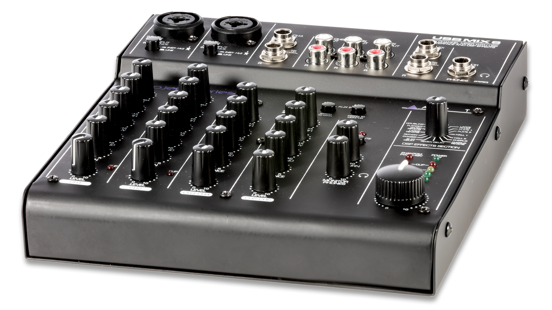 usbmix6 six channel mixer usb audio interface art pro audio. Black Bedroom Furniture Sets. Home Design Ideas