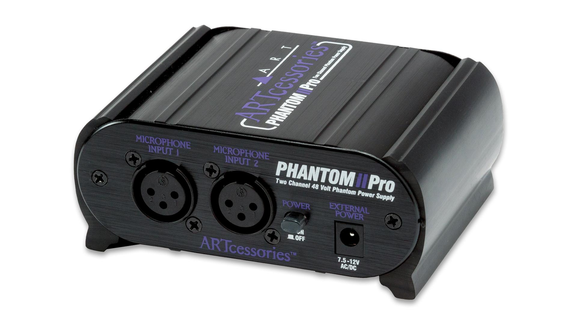 Phantom Ii Pro Dual Ch Power Supply Art Audio 12v Overview
