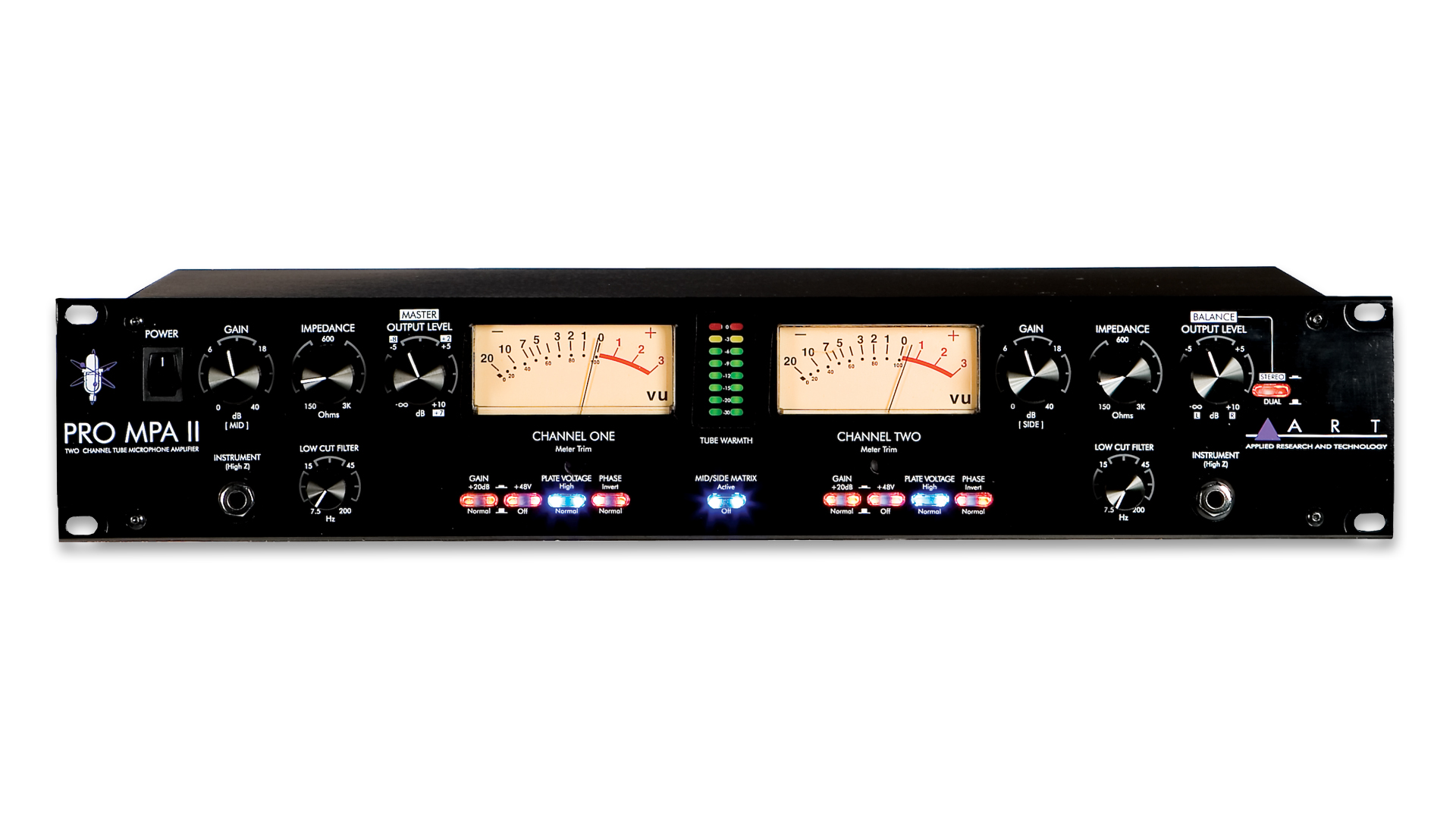 Pro Mpa Ii Two Channel Mic Preamp Art Audio Balanced Microphone Preamplifier Overview Key Features Specifications